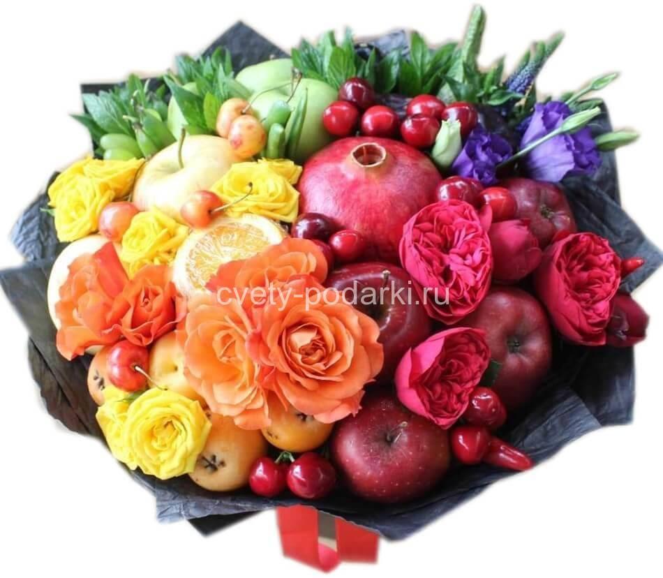 Поздравление фруктовым букетом фото 548